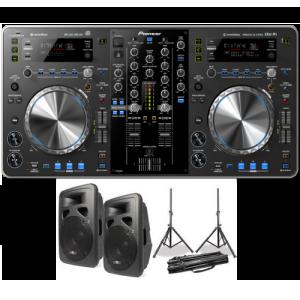 Dj set 1 met twee speakers huren
