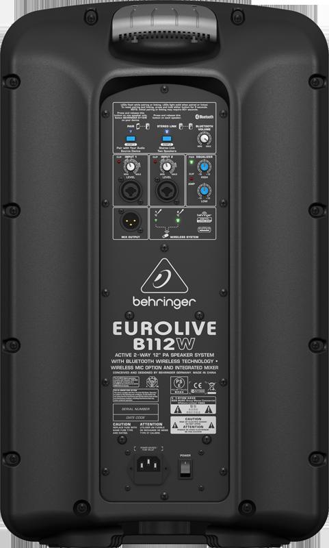 Behringer B112W actieve met Bluetooth speaker huren 2